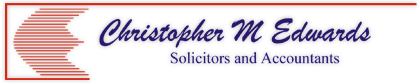 Christopher M Edwards - Solicitor and Accounts logo